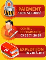 Paiement 100% sécurisé - Conseil et commande 03 25 71 28 95 - Expedition 24 à 48h